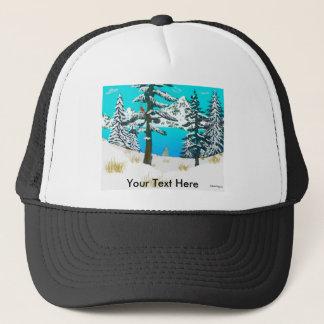 Winter Cardinal Trucker Hat