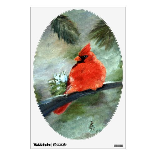 Winter Cardinal Wall Decal