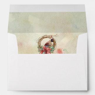 Winter Cardinal with Poinsettia Envelopes