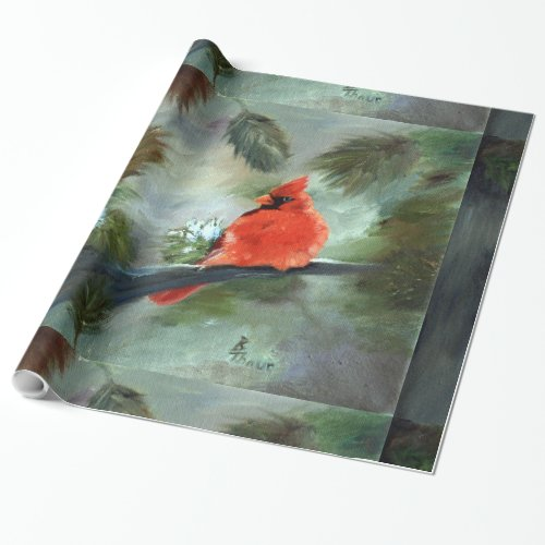 Winter Cardinal Wrapping Paper