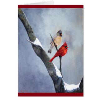 """Winter Cardinals""  Art by Anne Card"