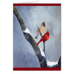 """""""Winter Cardinals""""  Art by Anne Greeting Cards"""