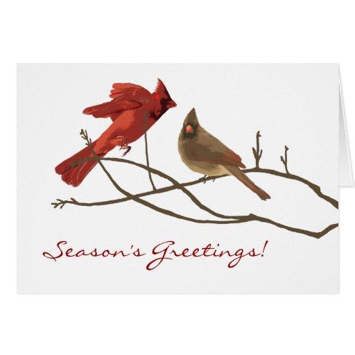 Winter Cardinals Christmas Holiday Card