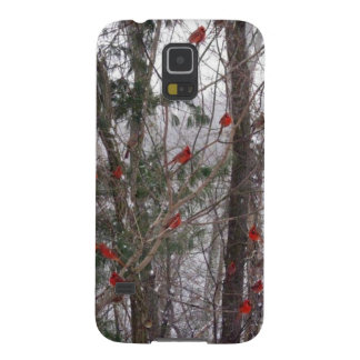 Winter Cardinals Galaxy S5 Cover