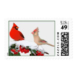Winter Cardinals Winter Wedding Stamp