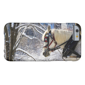 Winter Carriage Horse Barely There iPhone 6 Case