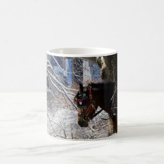 Winter Carriage Horse Coffee Mug