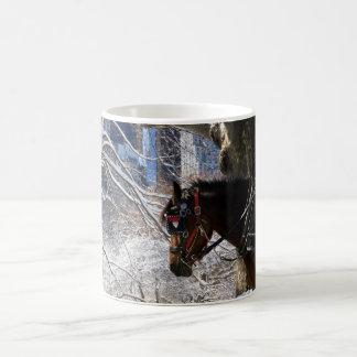 Winter Carriage Horse Coffee Mug