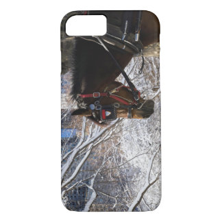 Winter Carriage Horse iPhone 7 Case