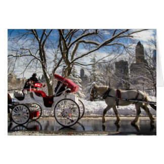 Winter Carriage Horses Card