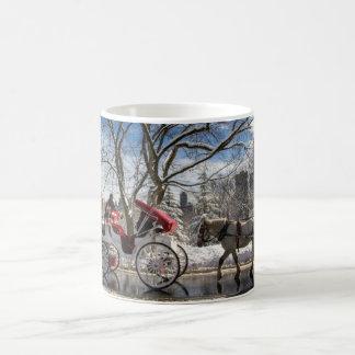 Winter Carriage Horses Coffee Mug