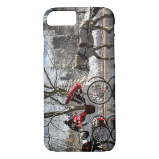 Winter Carriage Horses iPhone 7 Case