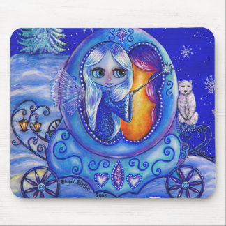 Winter Carriage Ride Fairy Mousepad