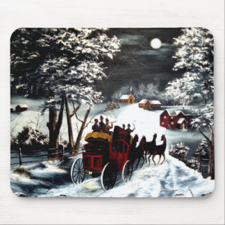 Winter Carriage Ride Mouse Pad