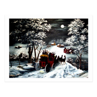 Winter Carriage Ride Postcards