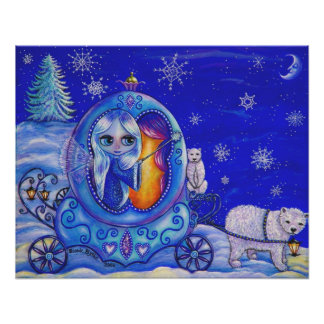 Winter Carriage Ride Poster