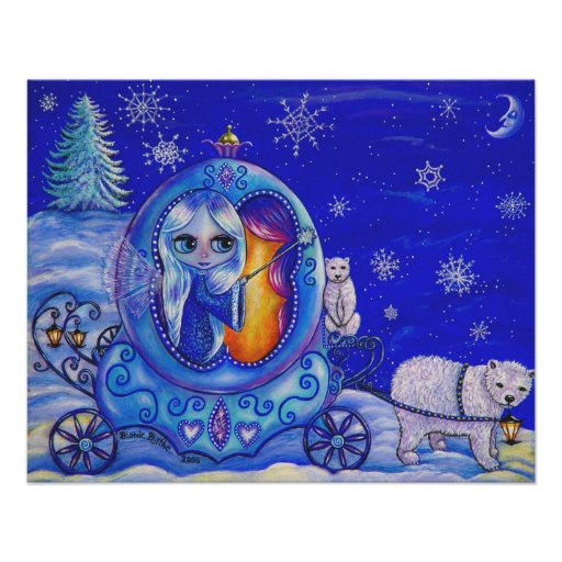Winter Carriage Ride Posters