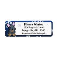 Winter Cartoon Blue Heeler Custom Return Address Label