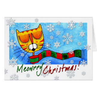 Winter Cat - Meowrry Christmas! Card
