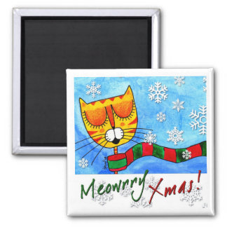 Winter Cat - Meowrry Xmas! Magnet