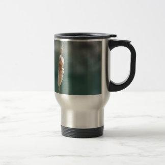 Winter Cattail Closeup Travel Mug