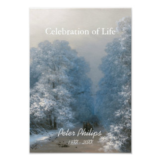 Winter Celebration Of Life 2- Funeral Announcement