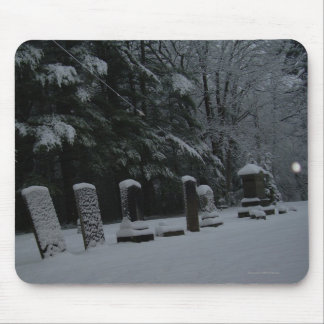 Winter Cemetery with Orb Mouse Pad