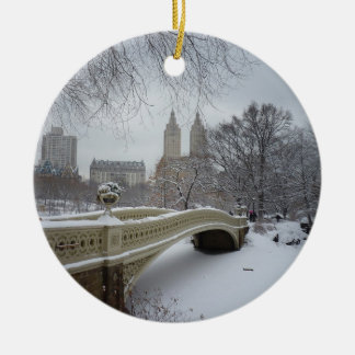 Winter - Central Park - New York City Christmas Tree Ornaments