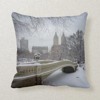 Winter - Central Park - New York City Throw Pillow