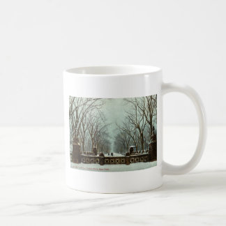 Winter Central Park NY Vintage c1910 Coffee Mug