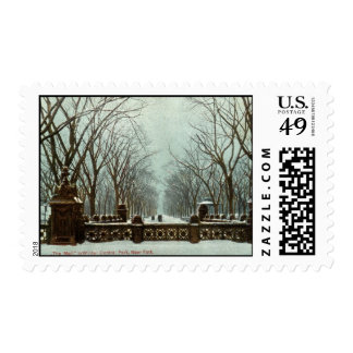 Winter Central Park NY Vintage c1910 Postage