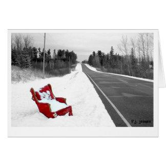 Winter Chair Card