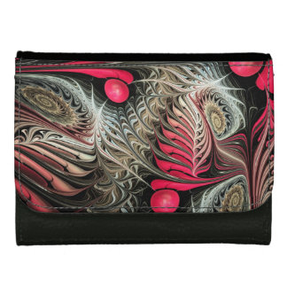 Winter Cheers, artistic abstract Leather Wallet