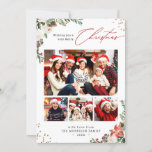 """Winter Chic Botanical Floral 4 Photo Christmas Holiday Card<br><div class=""""desc"""">Sending your greetings of the season with this """"Winter Chic Botanical Floral 4 Photo Christmas Holiday Card"""". (1) For further customization, please click the """"customize further"""" link and use our design tool to modify this template. (2) If you prefer Thicker papers / Matte Finish, you may consider to choose the...</div>"""