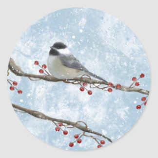 Winter Chickadee Sticker