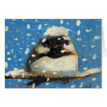 Winter Chickadee with Snowflakes Cards