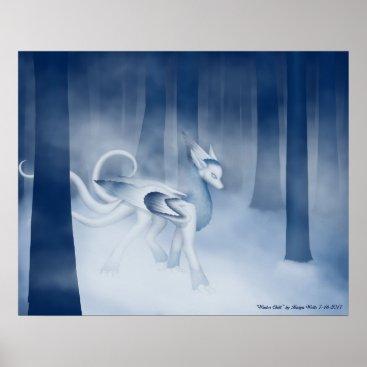 "Art Themed ""Winter Chill"" by Kaiya Wells Poster"