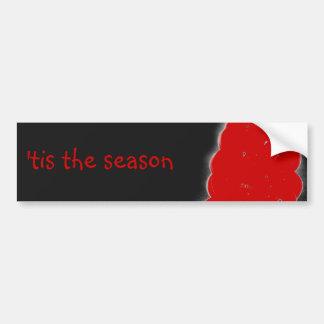 Winter Christmas Berries 'tis the season Car Bumper Sticker
