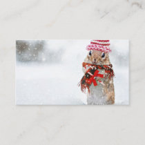 Winter Christmas Chipmunk Business Card