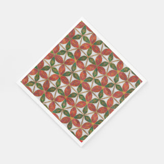 Winter Christmas Colors Paper Napkin