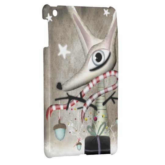 Winter Christmas Fox acorns iPad Mini Cover