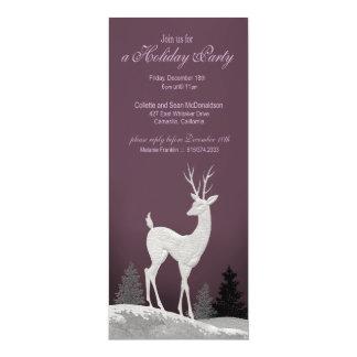 Winter Christmas Holiday Party Invitation (plum)