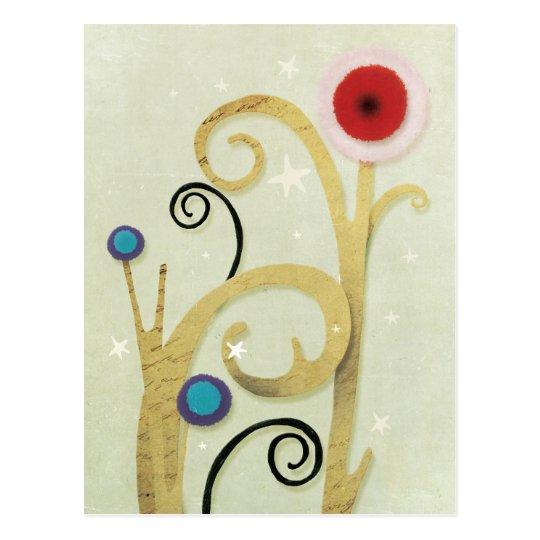 Winter Christmas Poppy Postcard