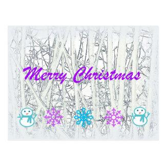 Winter Christmas Postcard