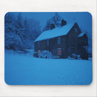 Winter, Christmas Scene Mouse Pad