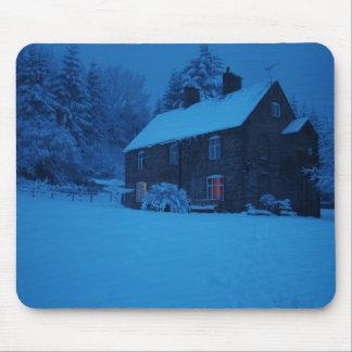 Winter, Christmas Scene Mouse Pad