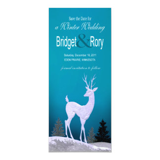 Winter Christmas Seasonal Save the Date Card