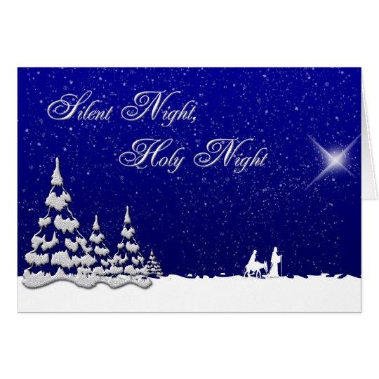 Winter Christmas Silent Night Card