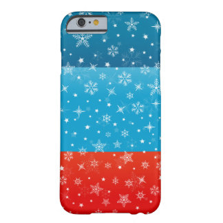 Winter Christmas Snowy Design Barely There iPhone 6 Case