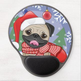 Winter & Christmas Time Pug Gel Mouse Pad